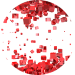 Lightbox abstract red